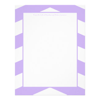 Purple & White Chevron Stationery w/ Signature Custom Letterhead