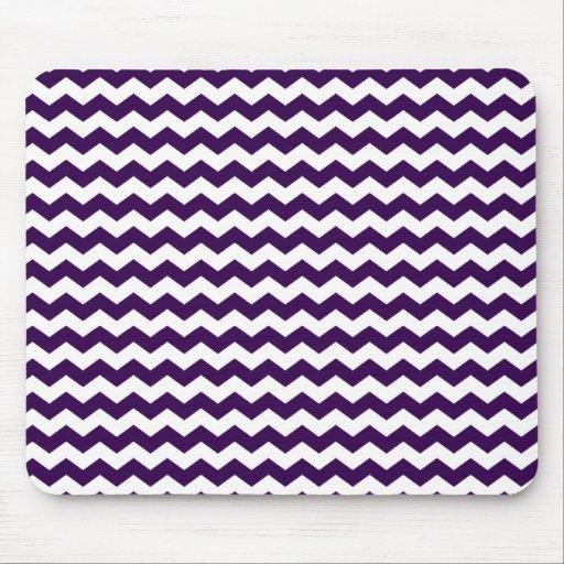 Purple white chevrons mousepad