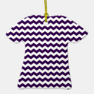 Purple white chevrons Double-Sided T-Shirt ceramic christmas ornament