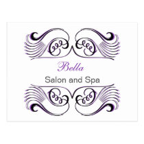 Purple white Chic Business Thank You Cards