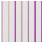 [ Thumbnail: Purple & White Colored Lines Fabric ]