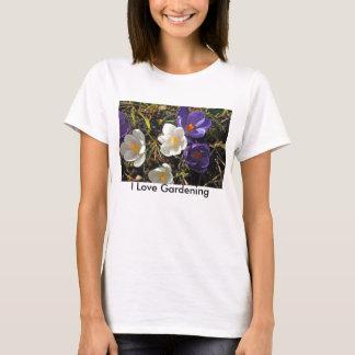 Purple & White Crocus T-Shirt