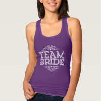 Purple & White Cute Team Bride Wedding Party Gift Tank Top