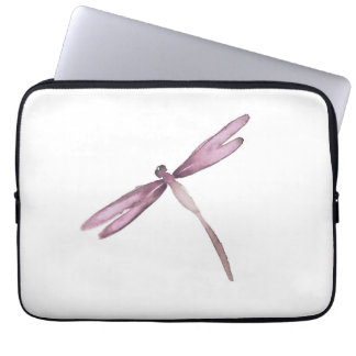 Purple white dragonfly laptop sleeve dragonflies
