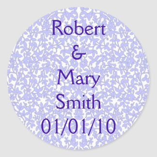 Purple & White Filigree Sticker