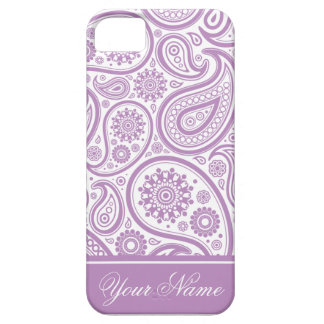 Purple White Floral Paisley Pattern iPhone 5 Case