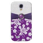 Purple white floral swirls Speck Case Galaxy S4 Case