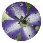 Purple White Flower Clock