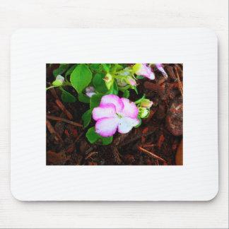 Purple & White flower Mouse Pad