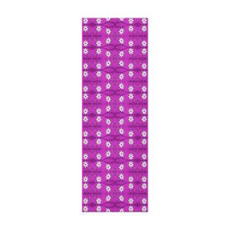 purple white flower pattern canvas print