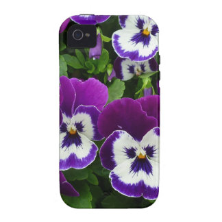 Purple & white flowers iPhone 4/4S case