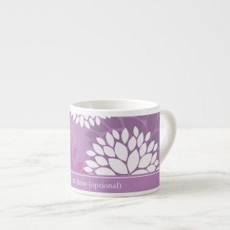Purple White Flowers Espresso Cup