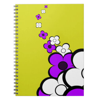 Purple White Flowers Notebook Notebook
