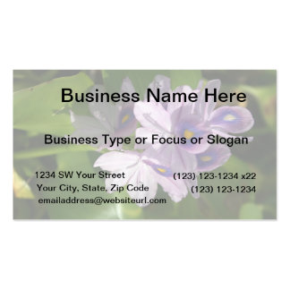 purple white flowers with eyes business card