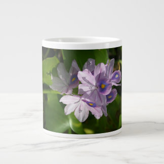 purple white flowers with eyes giant coffee mug
