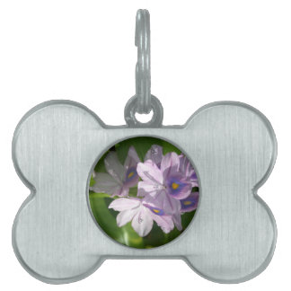 purple white flowers with eyes pet ID tags