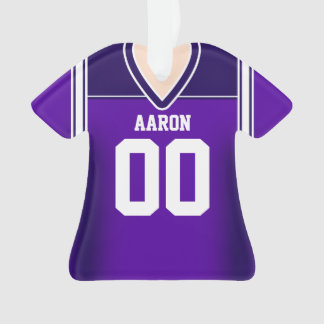 Purple/White Football Jersey Ornament