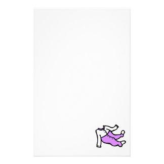 purple & white footy PJ's Stationery Design