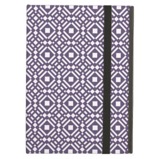 Purple & White Geometric Tile Tessellation Pattern Case For iPad Air