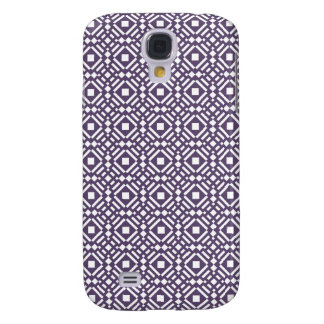 Purple & White Geometric Tile Tessellation Pattern Samsung Galaxy S4 Cover