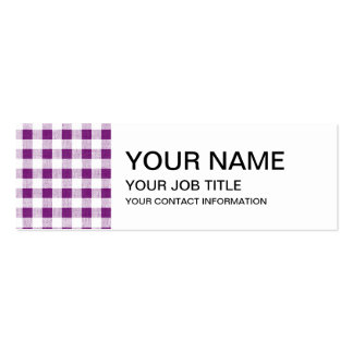 Purple White Gingham Pattern Business Card