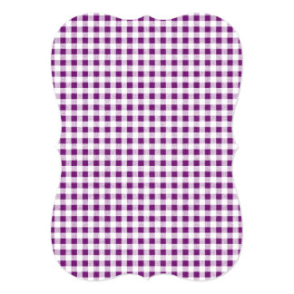 Purple White Gingham Pattern Card