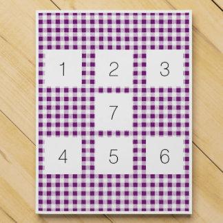 Purple White Gingham Pattern Chocolate Countdown Calendar