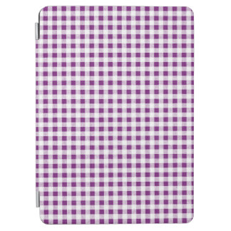 Purple White Gingham Pattern iPad Air Cover