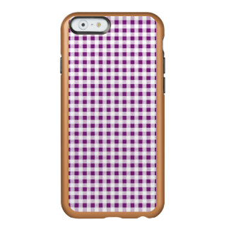 Purple White Gingham Pattern Incipio Feather Shine iPhone 6 Case