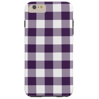 Purple & White Gingham Pattern iPhone 6 Plus Case