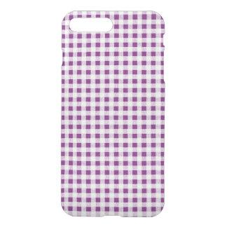 Purple White Gingham Pattern iPhone 7 Plus Case