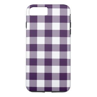 Purple & White Gingham Pattern iPhone 7 Plus Case