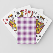 Purple White Gingham Pattern Playing Cards