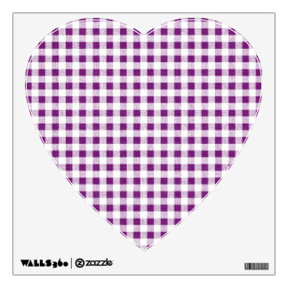 Purple White Gingham Pattern Wall Decal