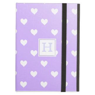 Purple & White Hearts :Powis iCase iPad Case