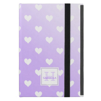 Purple & White Hearts :Powis iCase iPad Mini Case