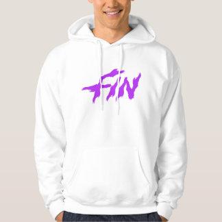 Purple & White hoodie