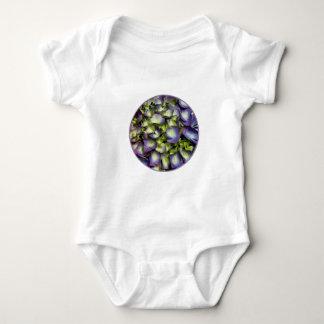 Purple & White Hydrangeas Baby Bodysuit