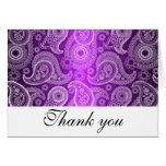 Purple & White Lace Paisley Thank You Note Cards