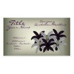 Purple & White Lillies Business Card