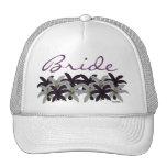 Purple & White Lillies Hat