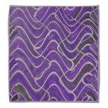 Purple White Lines pattern Bandana