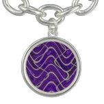 Purple White Lines pattern Bracelet