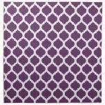 Purple & White Moroccan Pattern Cloth Napkin