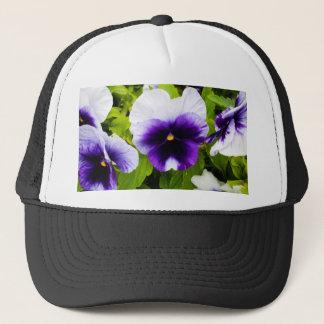 Purple_White_Pansies,_ Trucker Hat
