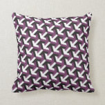 Purple White Pattern Decorative Throw Pillow
