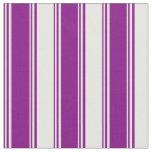 [ Thumbnail: Purple & White Pattern Fabric ]