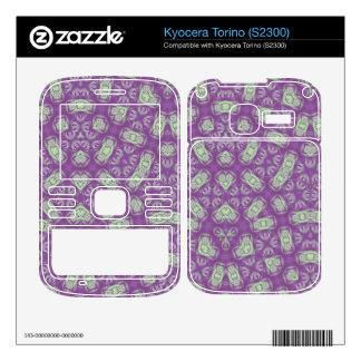 Purple & White Pattern Decals For Kyocera Torino