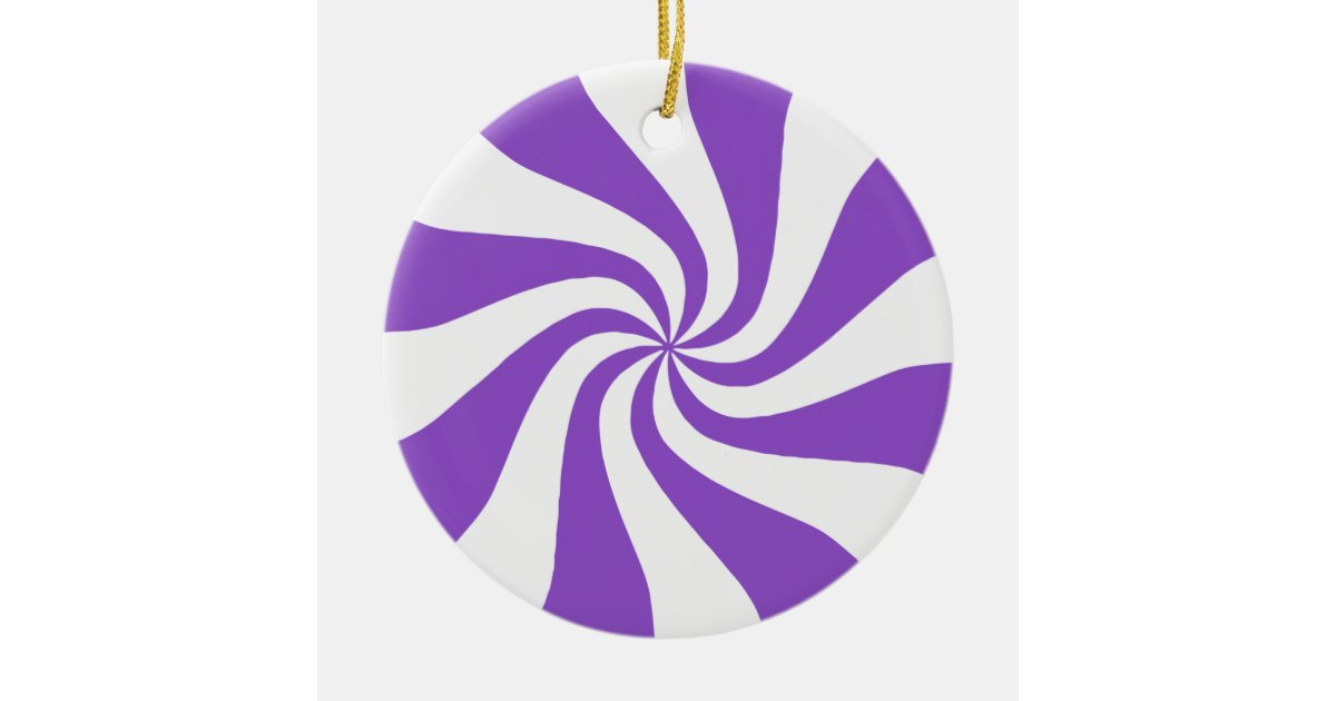 Purple Amp White Peppermint Candy Christmas Ornament