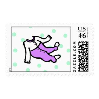 Purple White PJ s Stamp